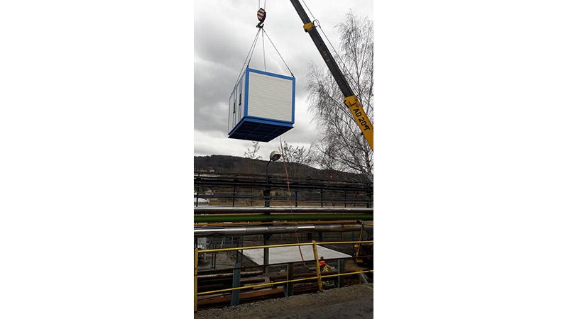 Instalace kontejneru s dvěma kompresory FLEX 15